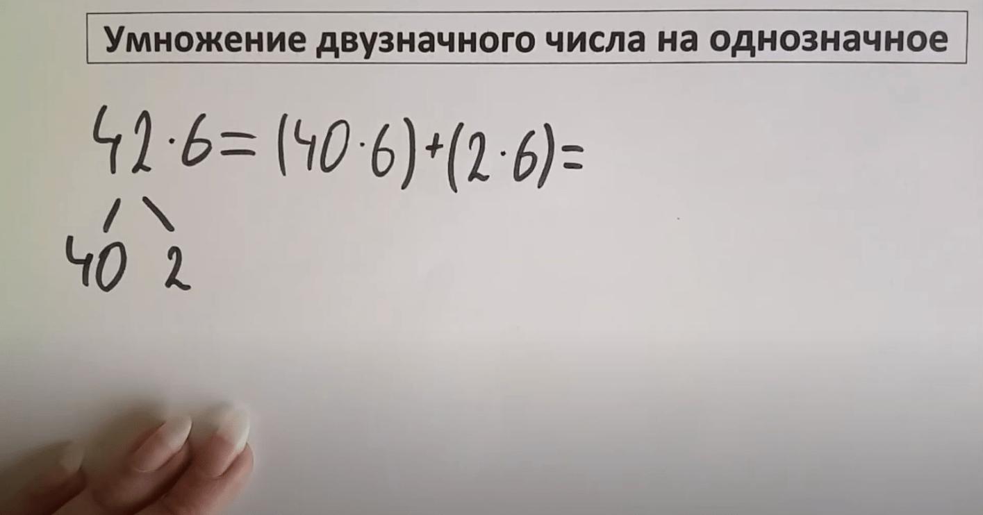 Умножение двузначного числа на однозначное